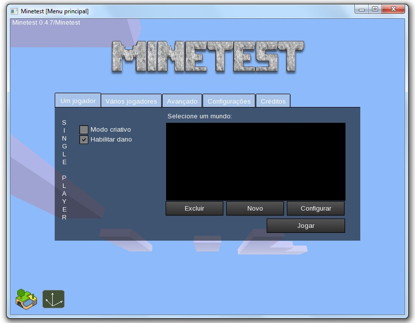Você pode conectar em servidores online no game.
