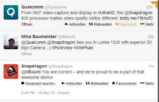 Qualcomm confirma Snapdragon 800 para phablet da Nokia no Twitter