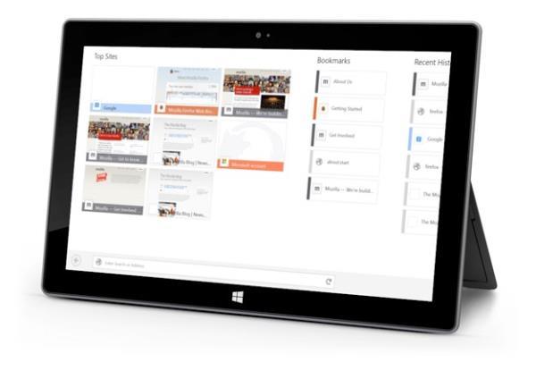 Firefox para Windows 8 ganha suporte para gestos e comandos de toque