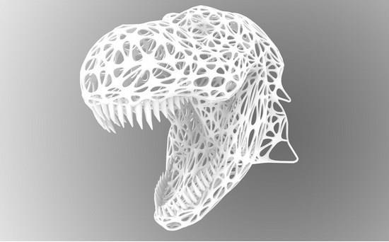 Cabeça de T-Rex decorativa