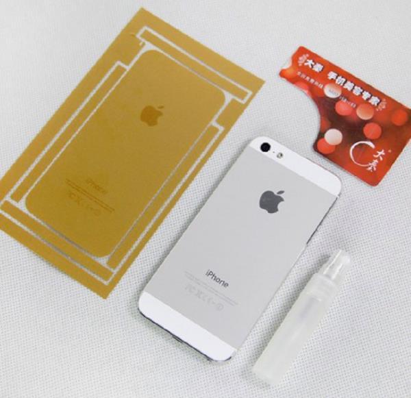 Sem iPhone dourado, chineses apelam para adesivo de US$ 2