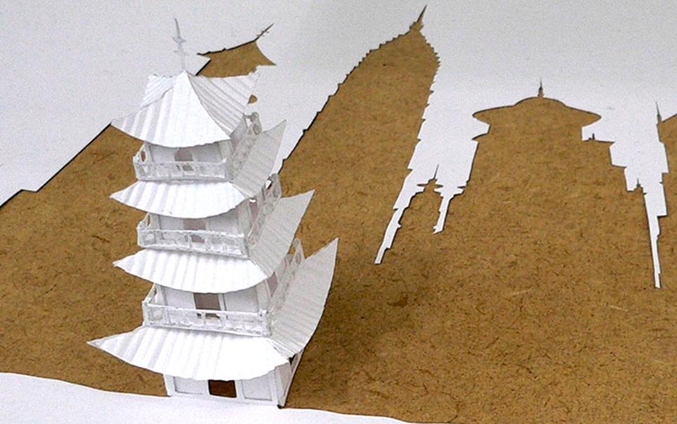 11 imagens de arte tridimensional em folha sulfite