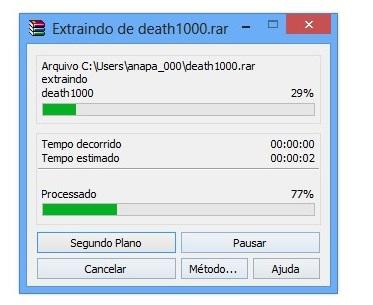 Extraindo um arquivo