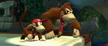 Imagem de Vídeo compara DKC: Tropical Freeze e Donkey Kong Country Returns no site Baixaki Jogos