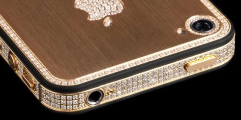 iPhone 5 coberto de ouro e diamantes � vendido por US$ 1 milh�o