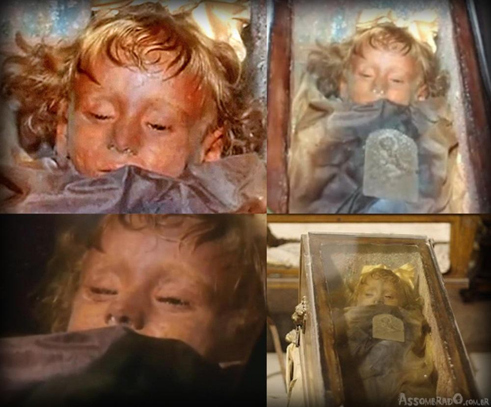 Intrigante: garotinha mumificada há 94 anos abre os olhos