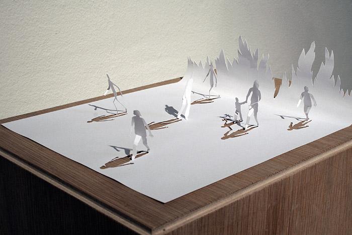 18 obras de arte feitas apenas com folhas de sulfite a4 for Art made of paper