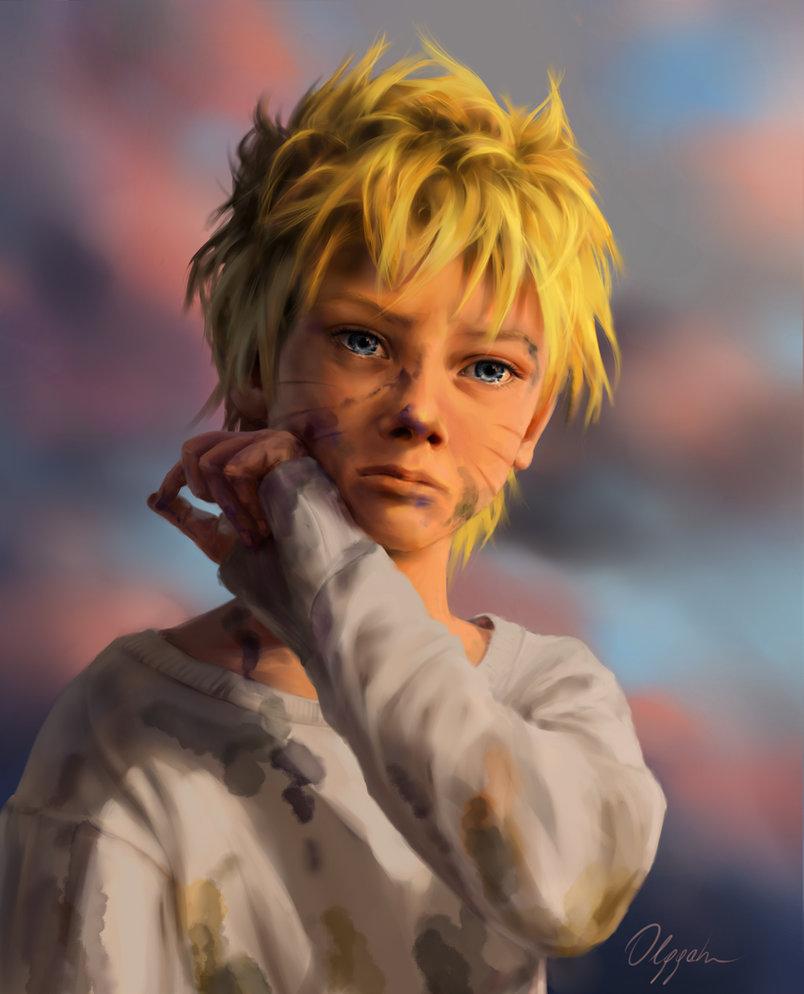 Naruto ganha pinturas realistas e extremamente sombrias