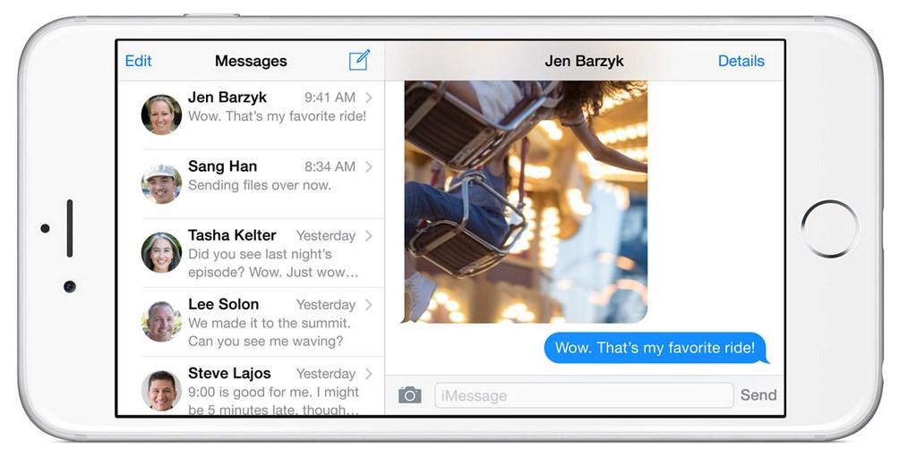 tela mensagens iphone 6