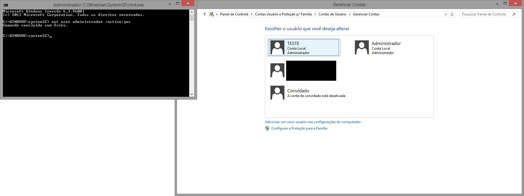 ativar administrador windows 7 cmd