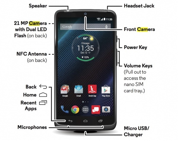 Vazou: confira o visual do novo Motorola DROID TURBO