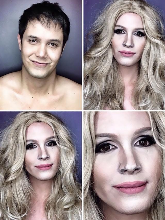 Não é Photoshop! Ator se transforma em celebridades com maquiagem