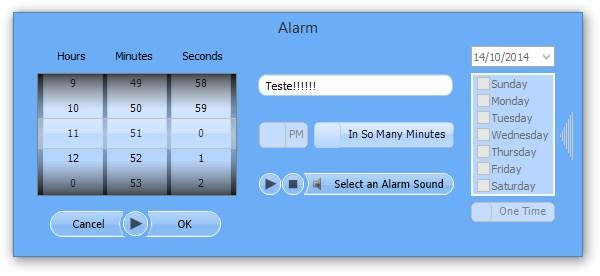 Configurando o alarme