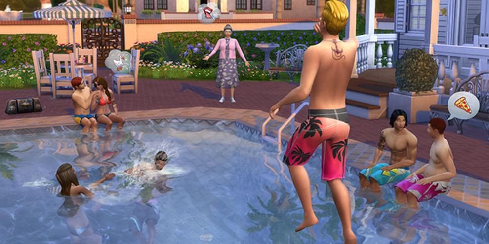 As piscinas chegaram em the sims 4 tecmundo games for Piscina sims 4