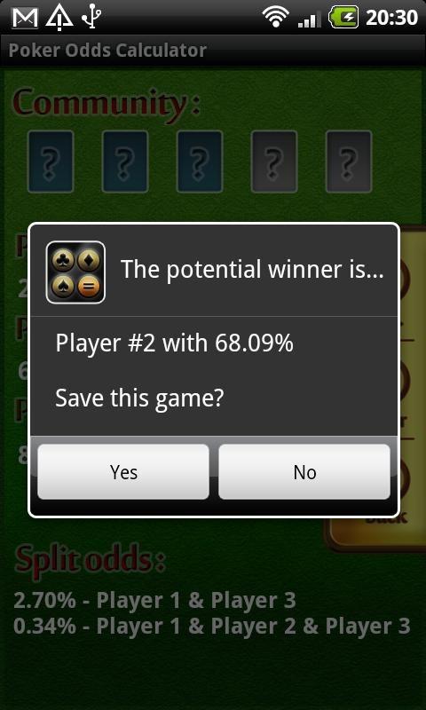 Holdem poker calculator download