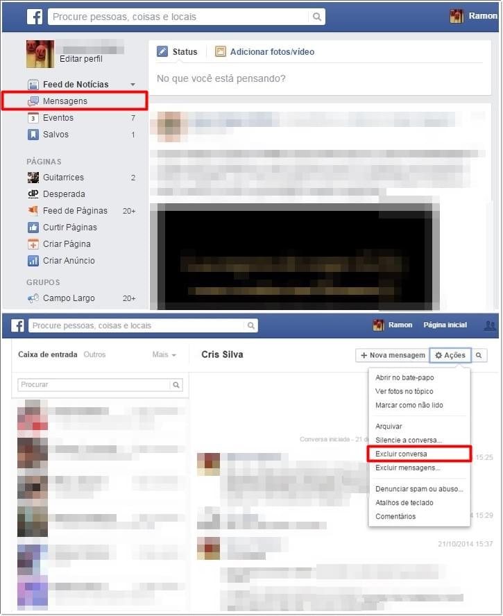 Facebook: marque todas as suas conversas como lidas de uma só vez 03114339136292