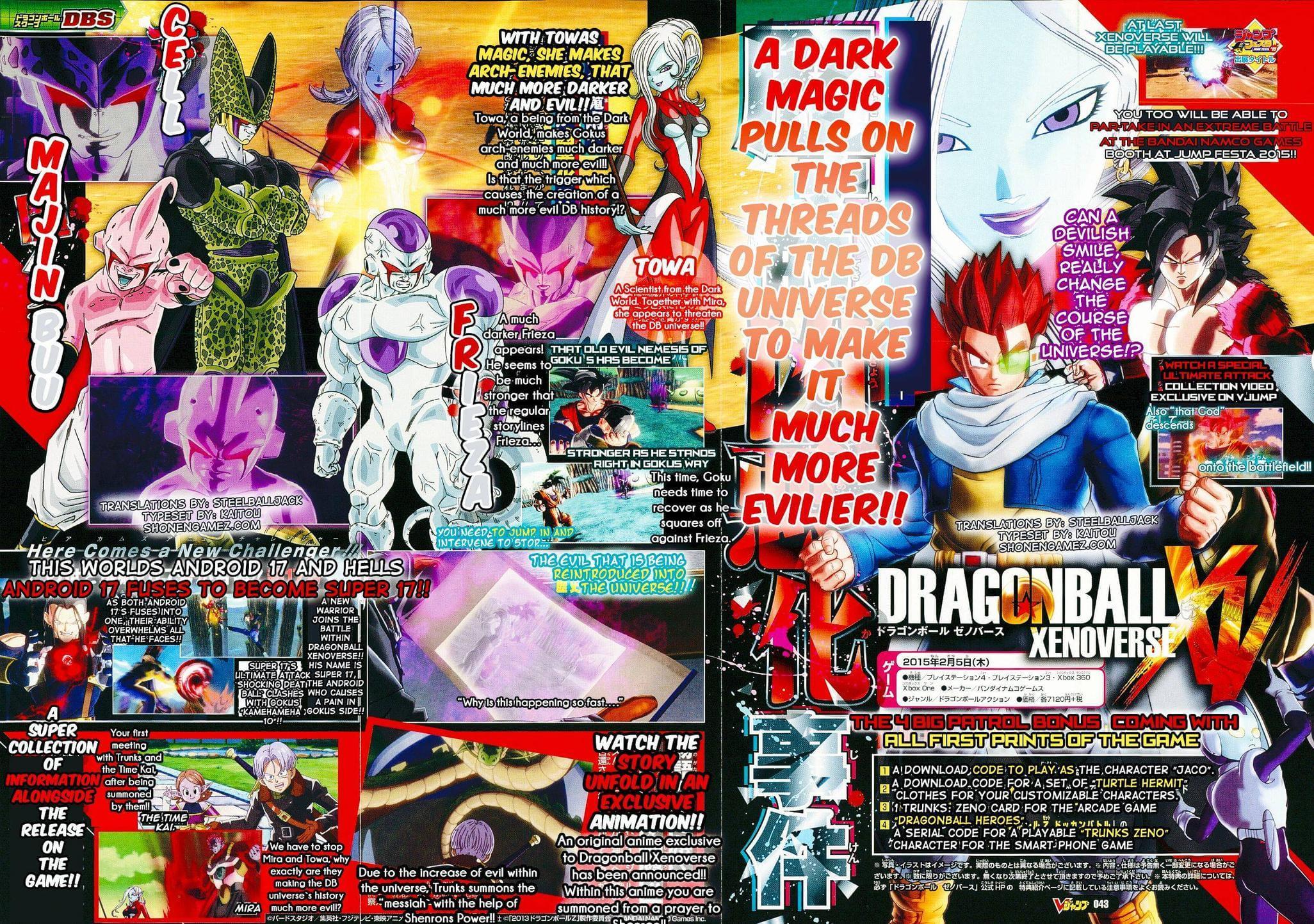 Revista V-Jump revela a aparição de Goku como SS God em Xenoverse