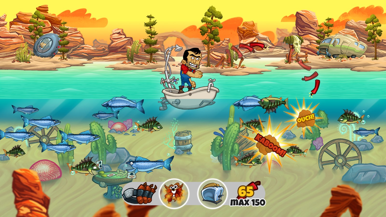 Dynamite fishing world games download for Fish world games
