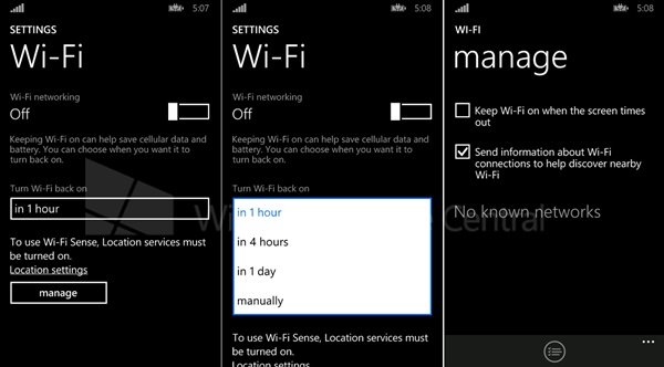 Windows Phone 8.1 poderá se conectar automaticamente ao sinal WiFi