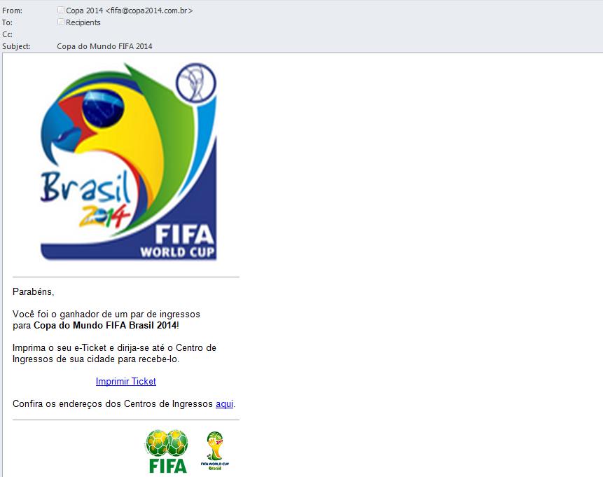 2014 é o ano dos eventos esportivos e também do spam