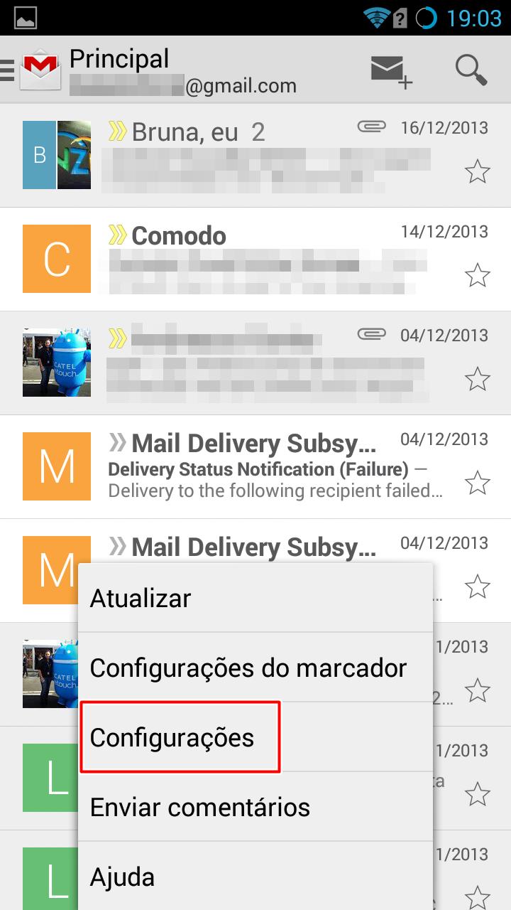 Android: como evitar que imagens do Gmail carreguem automaticamente