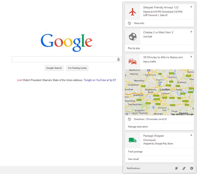 Google Now finalmente chega ao Chrome Beta