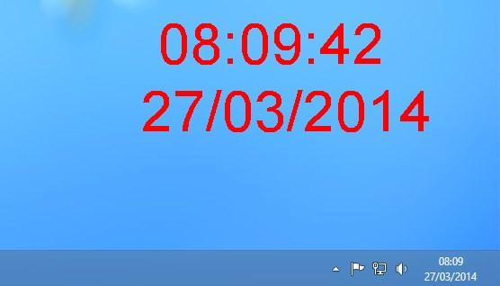 Relógio e data