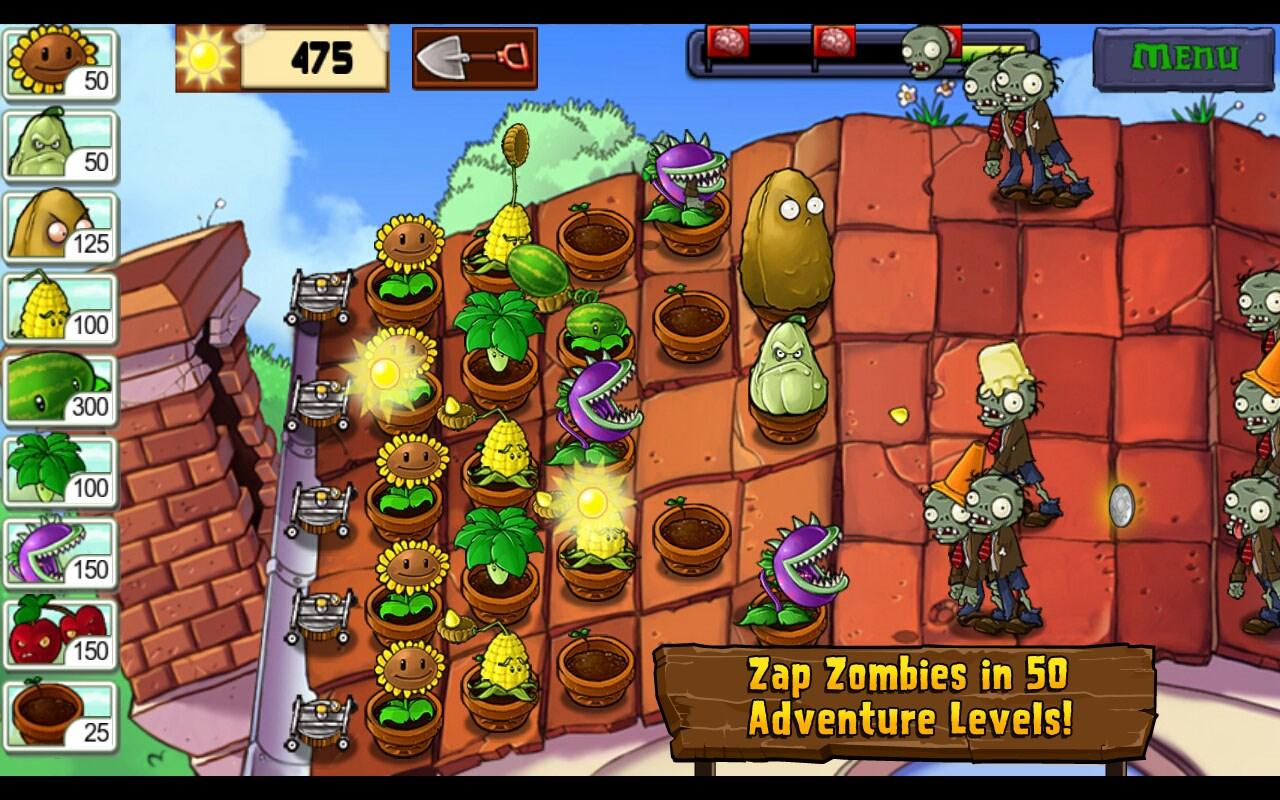 игра на андроид растения против зомби 1