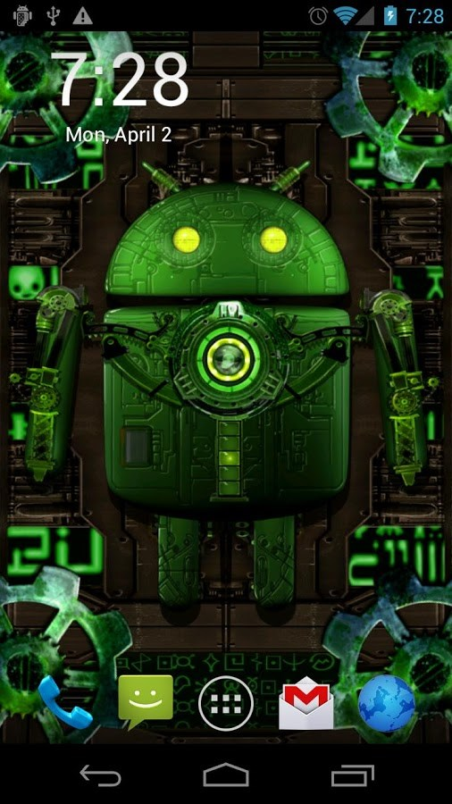 Steampunk Droid Live Wallpaper Download