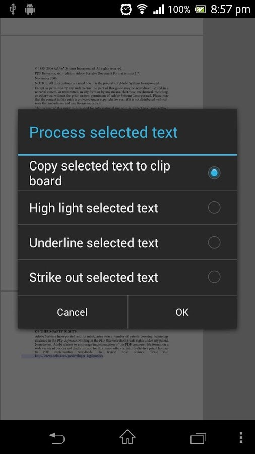 how to rotate pdf reader android