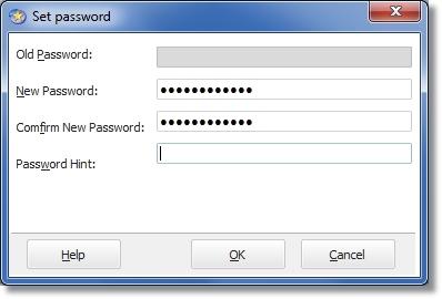 É possível usar uma senha para proteger o software