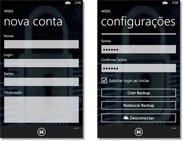 Interface do app é totalmente em português