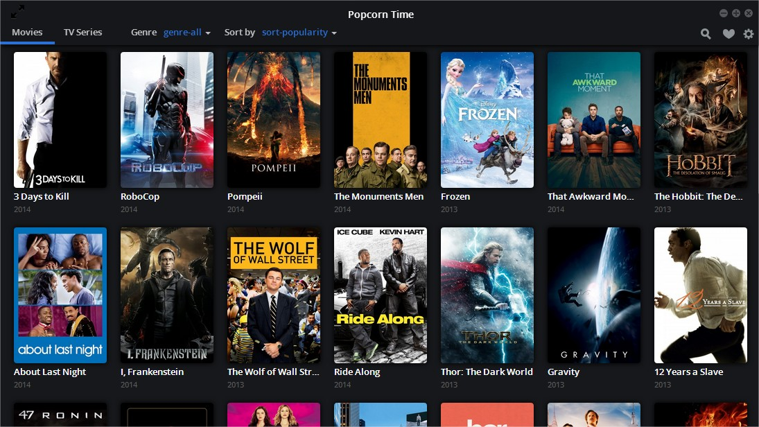 Popcorn time download Online series sites