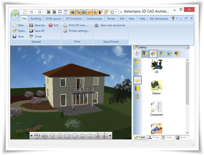 Ashampoo 3d cad architecture download for Programa para disenar casas facil