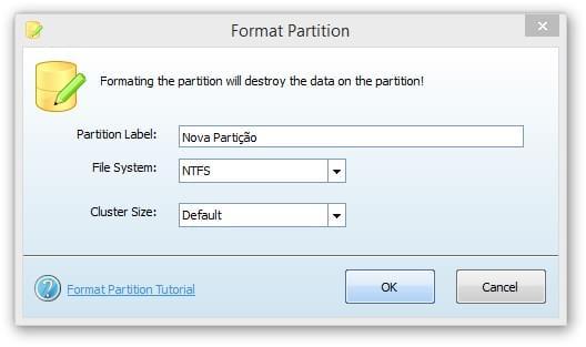 Formatando uma partição