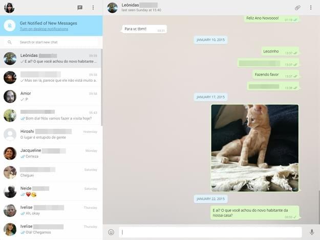 Trocando mensagens de texto