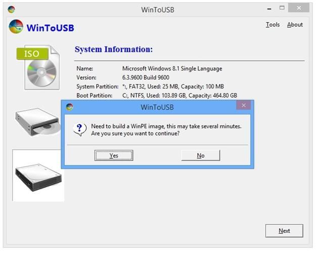 Montando imagem para Windows To Go