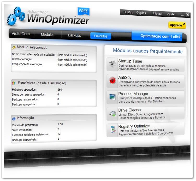 ASHAMPOO WINOPTIMIZER FREE 1.0