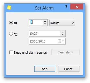 Definindo um alarme
