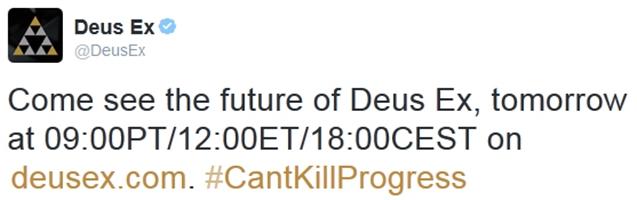 "Deus Ex "" Twitter"""