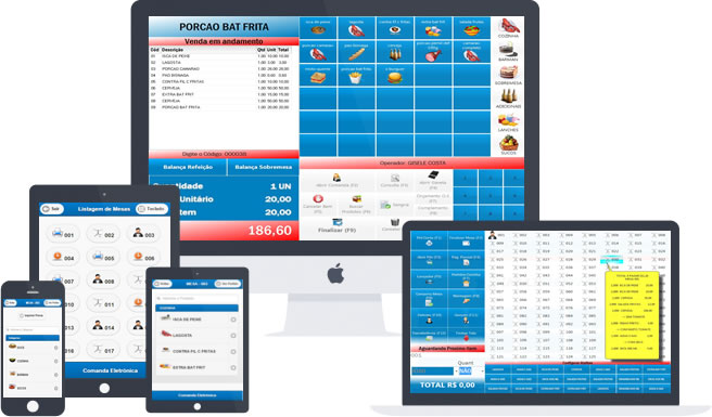 Programa para Restaurantes Lojas Pizzarias MultiCheff.Net - Imagem 1 do software