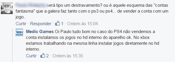 Empresa que prometia desbloquear PS4 apaga a postagem no Facebook