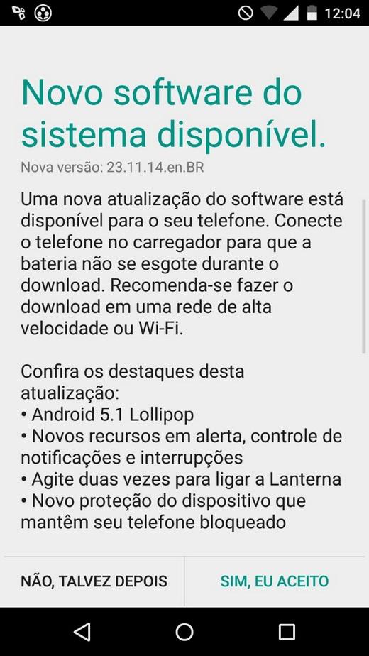Novos Moto G e Moto X começam a receber Android 5.1 no Brasil