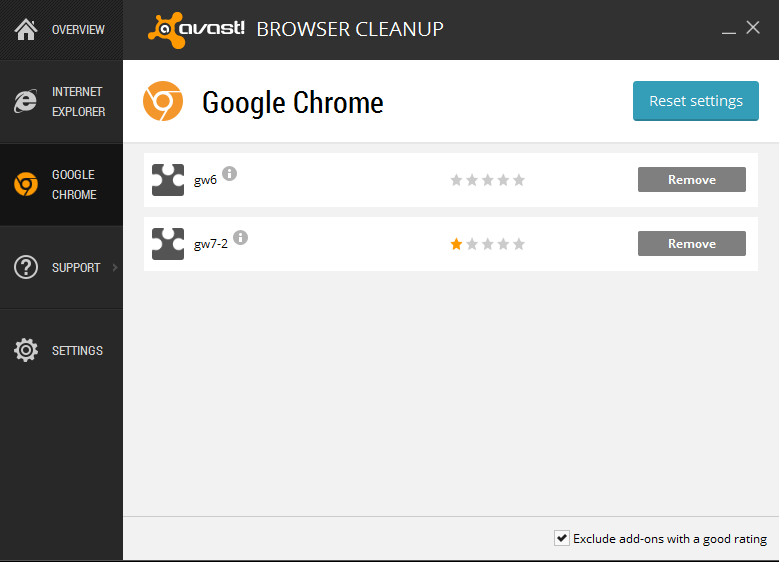 AVAST BROWSER CLEANUP 2015