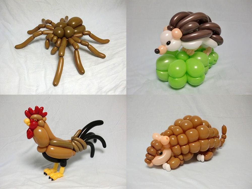 Veja as criações incríveis de um artista japonês feitas só com bexigas