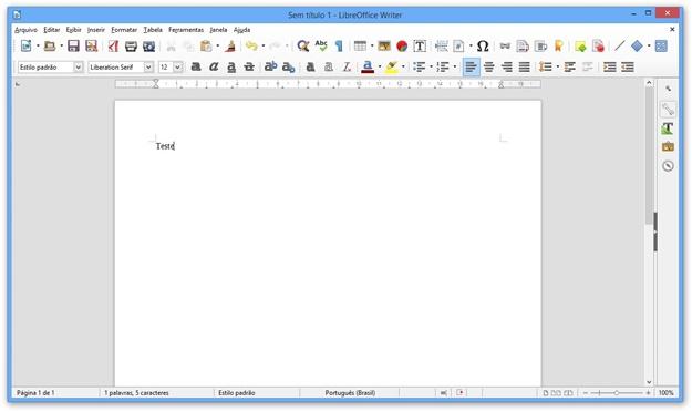 Abrindo um documento de texto