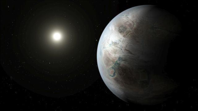 Terra 2.0: concepção artística do planeta Kepler-452b.