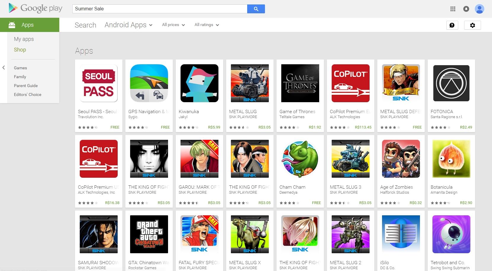 Preparem suas carteiras: começou a summer sale na Google Play Store