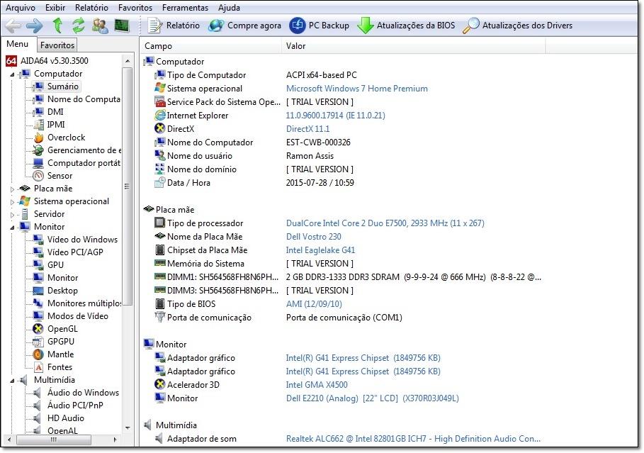 AIDA64 - Imagem 1 do software