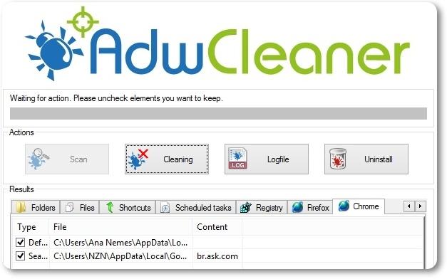 AdwCleaner - Imagem 1 do software